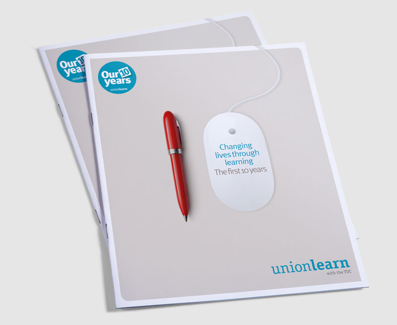 union learn anniversary brochure design