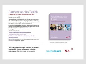 TUC open Apprenticeships pack online